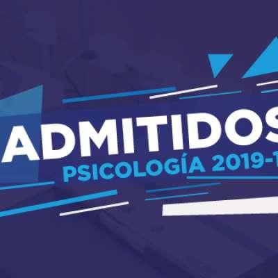 Segundo grupo de admitidos a Psicología 2019-1