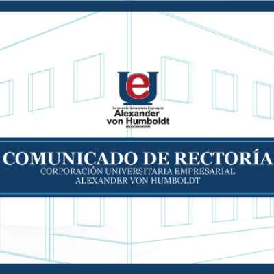 COMUNICADO DE RECTORÍA: Este 17 de agosto iniciamos prácticas de laboratorio